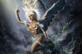 Картинка искры, рука, ангел, арт, крылья, девушка