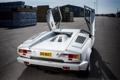 Картинка белый, Lamborghini, суперкар, Countach, задок, 1988, 25 Anniversary