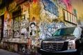 Картинка машина, графити, Переулок, угол дома