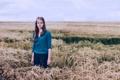Картинка поле, девушка, красота, колосья