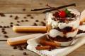 Картинка печенье, glass, вишенка, корица, крем, десерт, сладкое