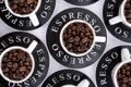 Картинка кофе, кружки, зёрна, эспрессо, espresso