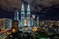 Картинка ночь, отель, Малайзия, Kuala Lumpur, Malaysia, Куала-Лумпур, art-slice photography