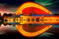 Картинка берлин, германия, закат, Дом культур мира, лето