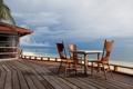 Картинка пляж, небо, стул, природа, стулья, море