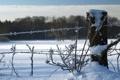 Картинка зима, снег, пейзаж, забор