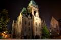 Картинка фото, Дома, Ночь, Город, Улица, США, Buffalo