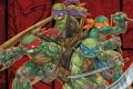 Картинка оружие, меч, трезубец, братья, Рафаэль, Raphael, Leonardo