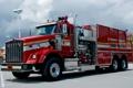 Картинка автомобиль, красная, хром, Kenworth, пожарная машина, техническое оборудование, (Кенуорт)