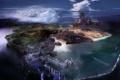 Картинка пейзаж, Concept Art, вода, море, LIGHTNING RETURNS, замок, FINAL FANTASY