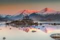 Картинка небо, горы, озеро, камни, панорама