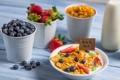 Картинка завтрак, клубника, еда, фрукты
