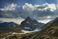 Картинка горы, облака, снег