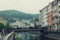 Картинка город, река, Чехия