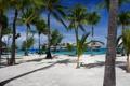 Картинка песок, море, небо, пальмы, океан, отдых, остров