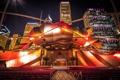 Картинка ночь, подсветка, Чикаго, театр, США, архитектура, Иллиноис