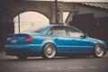 Картинка Audi, stance, blue, синяя, ауди