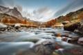Картинка камни, река, горы, осень, Альпы, потоки