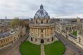 Картинка пейзаж, купол, небо, Великобритания, улица, университет, дома