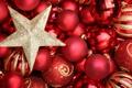 Картинка зима, шарики, шары, игрушки, звезда, Новый Год, Рождество