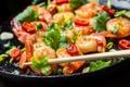 Картинка зелень, креветки, pepper, перчик, greens, shrimps, dish with seafood