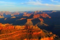 Картинка закат, горы, каньон, Аризона, США, grand canyon national park