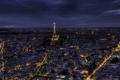 Картинка свет, ночь, город, Франция, Париж, здания, дома
