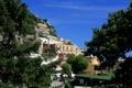 Картинка Positano, Италия, ветки, деревья, дома