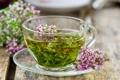 Картинка чашка, блюдце, травяной чай