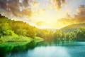 Картинка солнце, пейзаж, природа