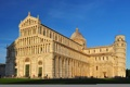 Картинка небо, люди, башня, Италия, собор, Пиза