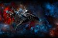 Картинка космос, корабль, абстракции