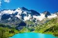 Картинка снег, горы, озеро