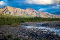Картинка река, Аляска, США, предгорье, Teklanika, Денали Парк