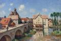 Картинка город, река, Alfred Sisley, пейзаж, мост, картина