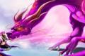 Картинка морда, девушка, фантастика, узоры, дракон