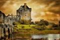 Картинка пейзаж, мост, замок