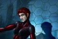 Картинка женщина, арт, рыжая, mass effect, adept