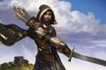 Картинка меч, Arathorn, арт, воин, lord of the rings, властелин колец, капюшон