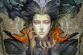 Картинка Девушка, ангелы, символы, пирсинг, когти, демоны