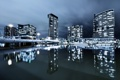 Картинка ночь, город, Melbourne