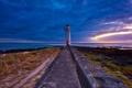 Картинка закат, маяк, море