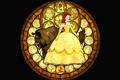 Картинка платье, Disney, Белль, Дисней, Beauty and The Beast, витраж, персонажи