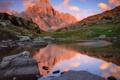 Картинка закат, горы, природа, озеро, отражение
