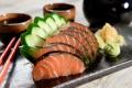 Картинка зелень, водоросли, рыба, огурец, fish, японская кухня, оформление