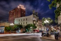 Картинка дорога, город, улица, дома, США, california, отель