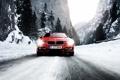 Картинка дорога, лес, снег, горы, бмв, diesel, bmw3