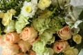 Картинка цветы, фото, розы, хризантемы, альстрёмерия