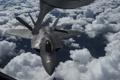 Картинка истребитель, полёт, F-22, Raptor, многоцелевой, дозаправка