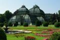 Картинка цветы, дом, парк, Австрия, сад, фонтан, клумба